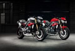2016 Triumph Speed Triple R мотоциклы на черном фоне