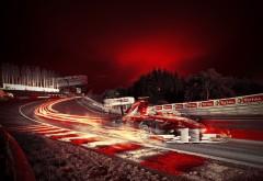 F1, Formula One, F1 Racing, Ф1, формула 1, ночная трасса, гонка