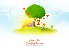 Love iS ThE BeAuTy oF The Soul фантик обои hd