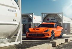 Dodge Viper оранжевый