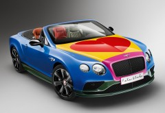 Скачать обои HD кабриолет, 2016, Bentley, GT, Sir Peter Blake, pop art, Пите…