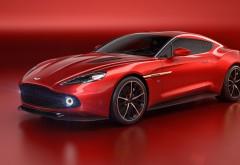Концепт Aston Martin Vanquish Zagato красного цвета обои HD