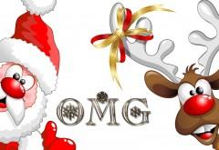 Санта и олень Рудольф