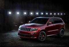 Jeep Grand Cherokee SRT8 кроссовер ночью обои HD