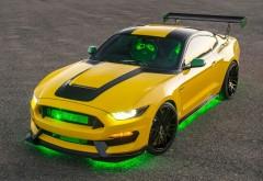 автомобиль, желтый, мустанг, форд, шелби, Ford Shelby, GT350, Mustan…