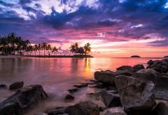 пляжный курорт закат