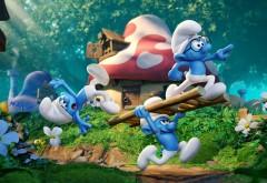 Смурфики, штрумфы, затерянная деревня, 2017, синие, мультфильм