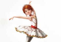 Балерина, Felicie Milliner, белый фон, прическа, мультфильм, платье, Ballerina, танец, рыжая, поза, девочка