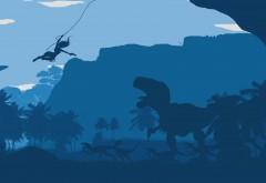 Ultra HD, 4K, минимализм, 3840x2160, динозавр, Tomb Raider, игра