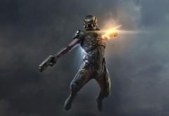 Капитан Шепард, Mass Effect, Andromeda, N7, 4K, 3840x2160 обои