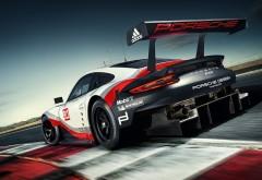 2017, porsche, 911, rsr, Порше, спорткар, автомобиль, гонка