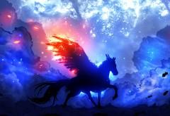 Хранитель Звезд, звезды, космос, лошадь, крылья, небо, ф�…