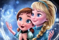 сестры, Эльза, Анна, сказка, мультфильм, дисней, Холодное сердце, frozen