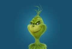 grinch, зеленый, Гринч - похититель Рождества, праздник, улыбка обои