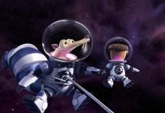 Косос, Ледниковый период, жолудь, астронавт, белка, мультфильм обои