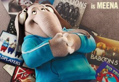 Слониха Мина, мультфильм, зверопой, meena, sing, HD обои, animation