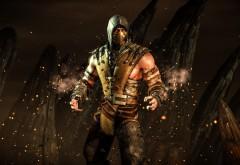 Hellfire (Адское пламя) Дает Скорпиону игра Mortal Kombat X обои