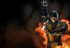 Скорпион Инферно игра Mortal Kombat X обои