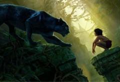 Книга джунглей, черная пантера, Багира, Маугли, ребенок…
