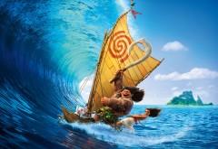 hd обои, моана, moana, мультфильм, Disney, волна, Моана Ваялики,…