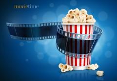 movietime, время кино, фильмы, попкорн, лента, обои, фото