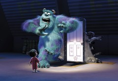 Корпорация монстров, Monsters Inc, обои hd, ребенок, Джимми Саливан, страшила, монстр