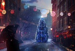 гирлянда, Новый год, украшение, елка, New Year, gifts, игрушки, …