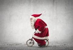 Санта Клаус, юмор, шуба, очки, Новый год, в красном, мале�…