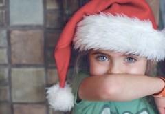 девочка, ребенок, колпак, рука, праздник, новый год, рождество, дитя, милашка, HD обои, фото