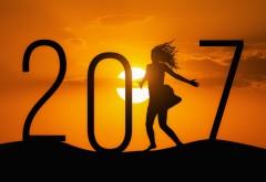 3840x2160, 4К, 2017, новый год, девушка, закат, день, рождество, �…