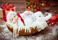 ребенок, новый год, рождество, младенец, дети, малыш, пр�…