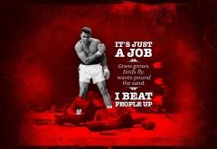 удар, Мохаммед Али, боксер, Muhammad Ali, boxer, нокаут, HD обои, картинки