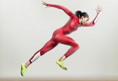 Найк, бег, спортсменка, женщина, США, атлет, реклама, nike, обои, HD