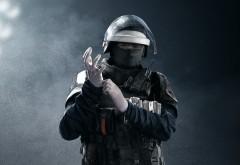 Гюстав, Doc, Катеб, GIGN, защита, оперативник, Rainbow Six, Siege, Радуга шесть, шутер, игра, обои, HD