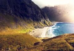 побережье, горы, морское побережье, морской берег, море…