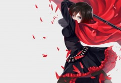 Руби Роуз, Anime, RWBY, Ruby Rose, аниме, мультфильм, обои, HD
