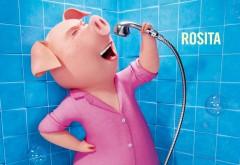 свинья Розита, микрофон, мультик