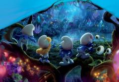 мультфильм, смурфики, смурфы, синие, затерянная деревня, смурфетта, растяпа, благорозумник, HD обои, фото