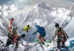 вингсьют, экстрим, экстрималы, горы, игра, сноуборд, неб…