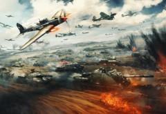 Бой, War Thunder, компьютерная игра, Гром войны, онлайн-игра, обои, HD