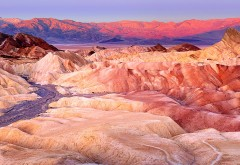 Рассвет на Забриски Пойнт (Zabriskie Point) обои HD