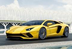 2017 Lamborghini Aventador S желтый Ламборгини авентодор обои HD