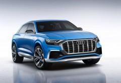 2018 Audi Q8 SUV синий внедорожник обои бесплатно