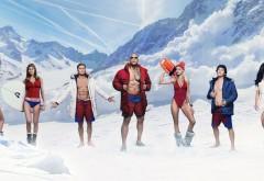 Спасатели Малибу постер к фильму 2017 года на фоне зимы о…