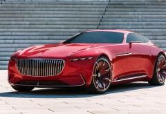 Vision Mercedes-Maybach 6 красный купе обои hd