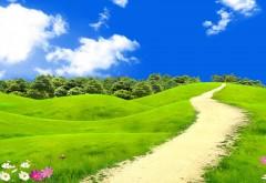 красивый весений ландшафт обои hd