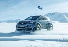 Hyundai Santa Fe 2017 в арктике зимние обои hd