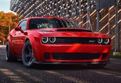 2018 Dodge Challenger SRT Demon красный купе обои hd