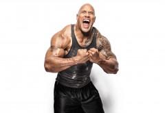 Дуэйн Джонсон обои 4K мускулистого актера на белом фоне