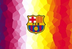 4k, 3840x2160, ФК Барселона, логотип, футбол, сине-гранатовые,…